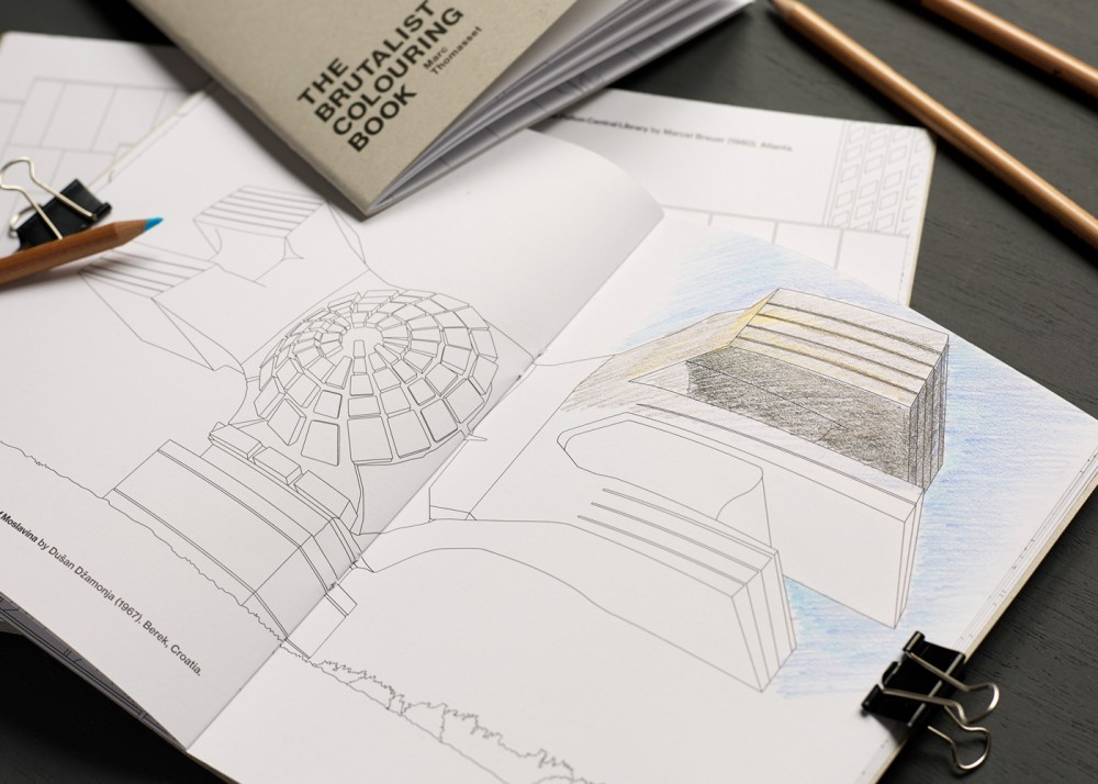 Love Brutalist architecture? This coloring book will have you reaching for your grey coloring pencils in a hurry.