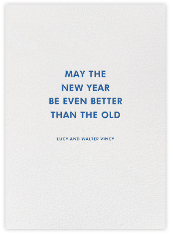 The Perfect New Year's Greetings from Paperless Post