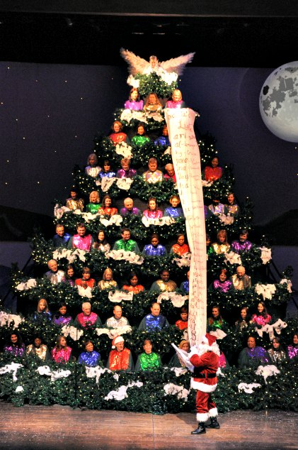 The Singing Christmas Tree, Charlotte, NC - Local Love: The 60th Annual Singing Christmas Tree - Lisa M. Frame