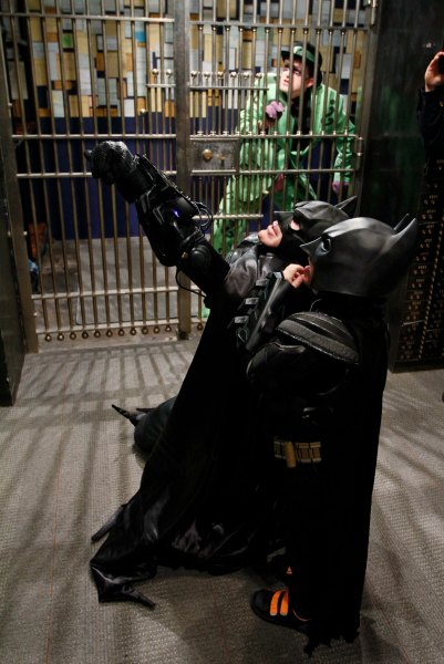 BatKid works the bank robbery.