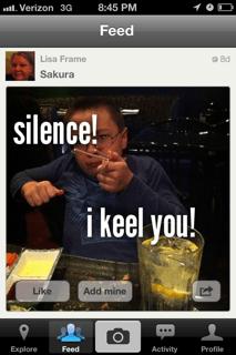 Peanut saying silence I keel you