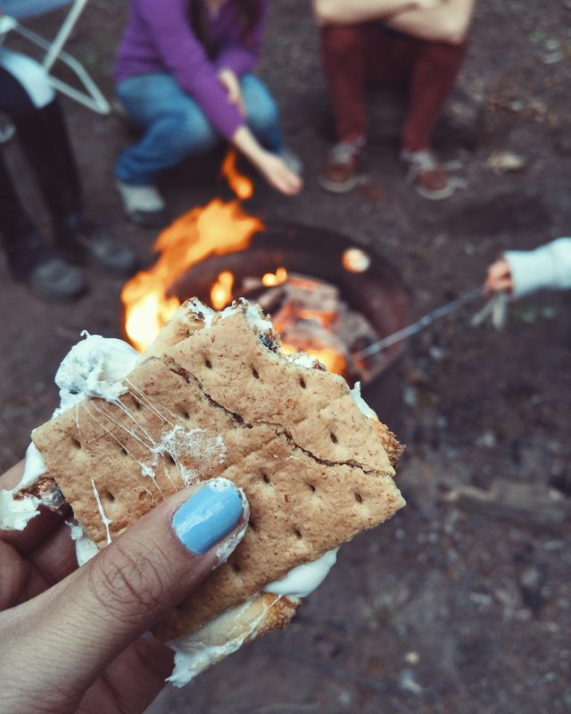 Treats around the campfire with friends is perfect Hygge.