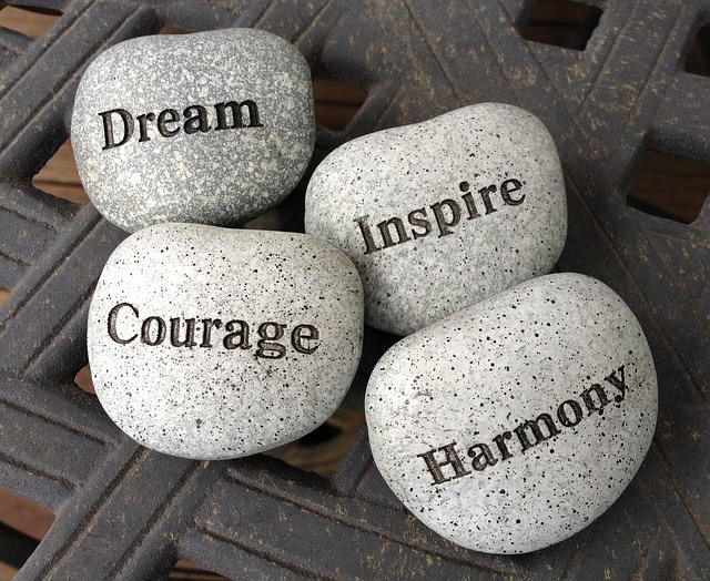 Dream, Inspire, Courage, Harmony