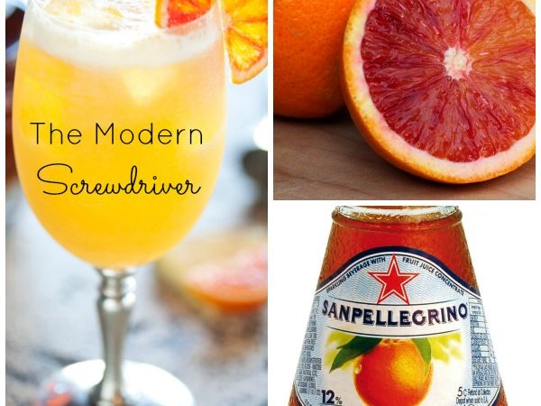 The Modern Screwdriver: Sparkling Blood Orange Vodka Cocktail