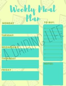 Protected image of meal plan printable