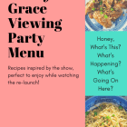 will & grace viewing party menu pinnable pinterest image