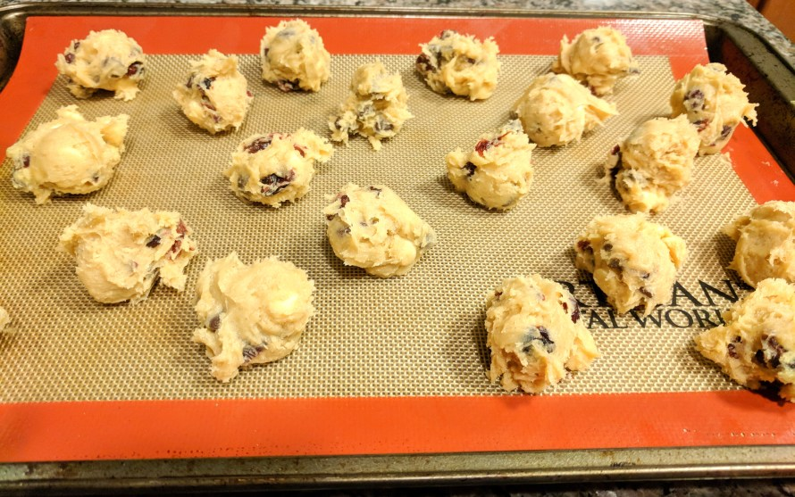 Santa will love these cranberry chocolate chip cookies