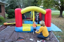 "The ""jumpy house"""
