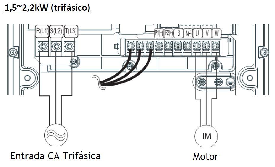 Convertidor de frecuencia trifásico LSLV0015S100-4EOFNA