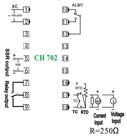 Controlador de temperatura termostado CH702 402 REX C100