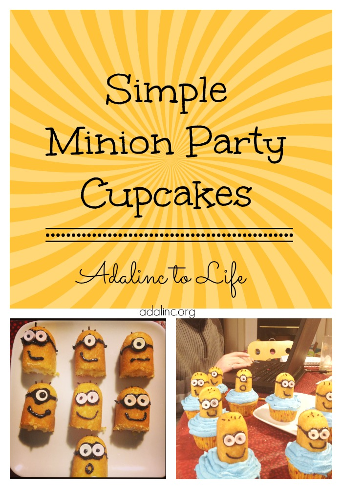 simple minion party cupcakes