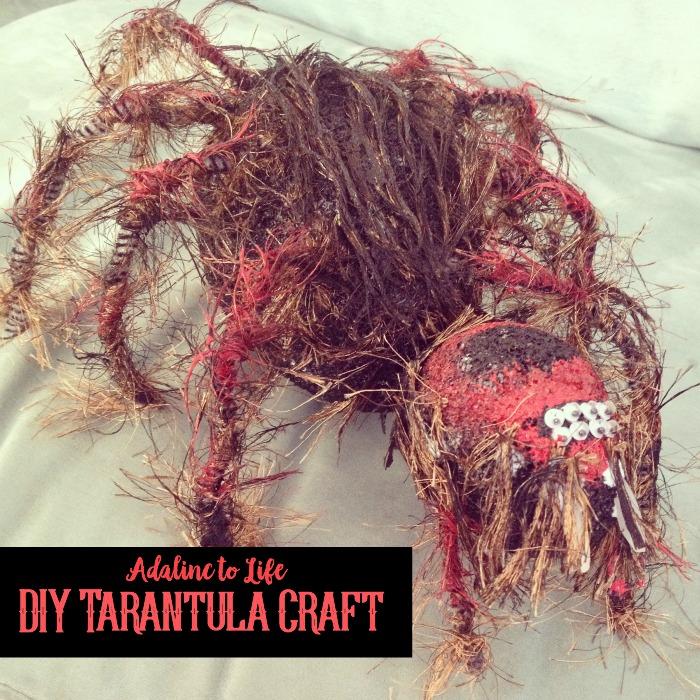 diy tarantula puppet craft
