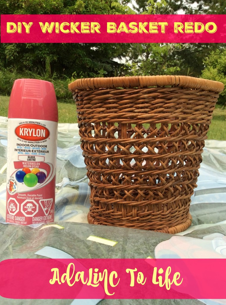 DIY Wicker Basket Upcycle