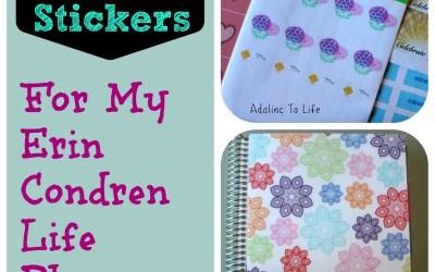 Planner Stickers for my Erin Condren Planner