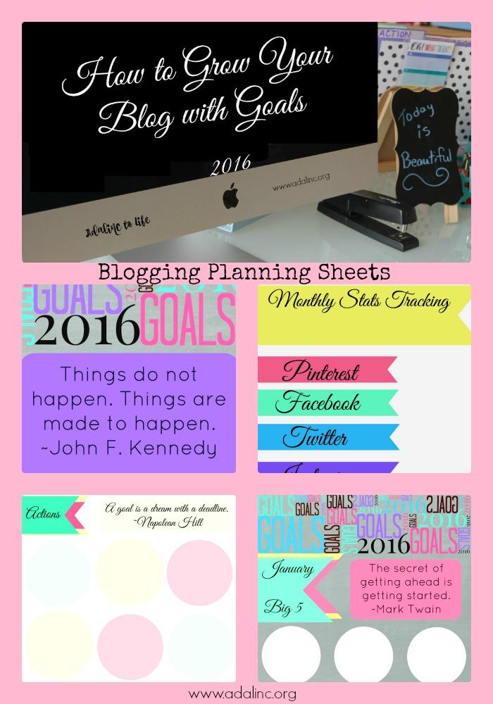 blog planning sheets