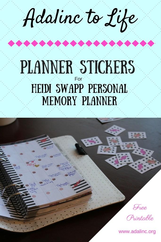 Heidi Swapp Blog Title Planner Stickers