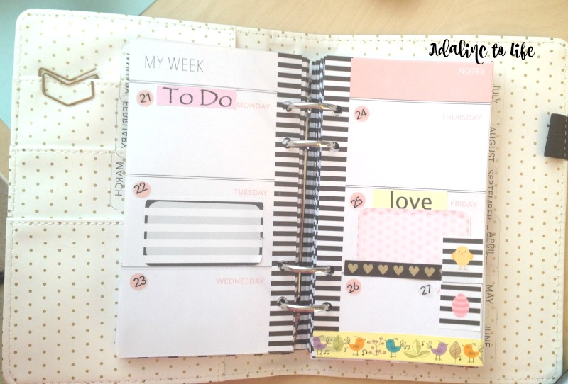 sunshine and sparkles in HS planner