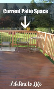 Create patio space