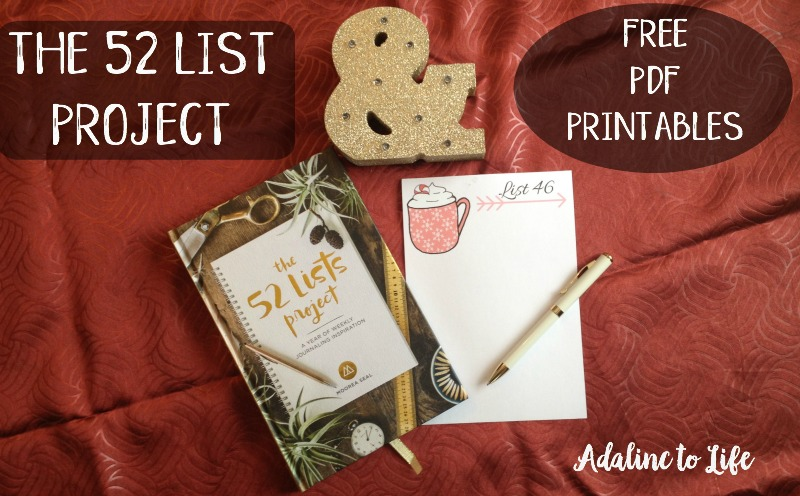 52 List project + Free PDF printables