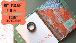 DIY pocket folders to organize receipts