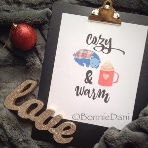 Cozy and Warm printable on Adalinc to Life