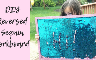 DIY Reversed Sequin Corkboard