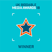 UK Biddable Media Awards 18 Winner