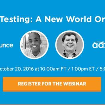 "Free webinar ""Ad Testing: A New World Order"""