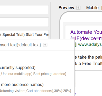 "Setting up ""IF ads"" in Google Ads"
