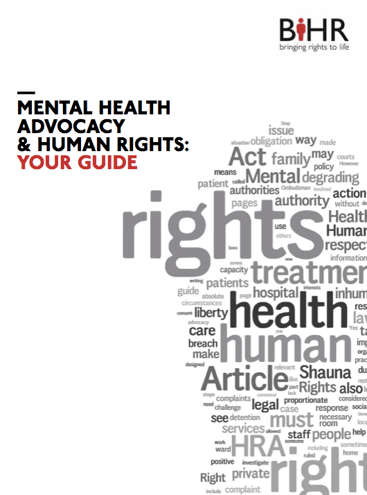 New Guide to Mental Health Advocacy and Human Rights