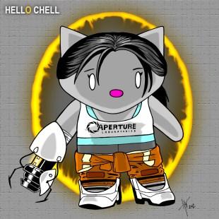 Hello Chell Orange