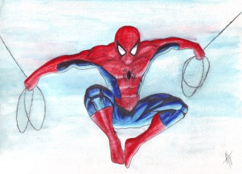 spidey-watercolour