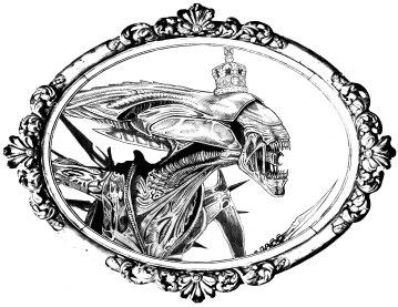 Fancy Queen framed