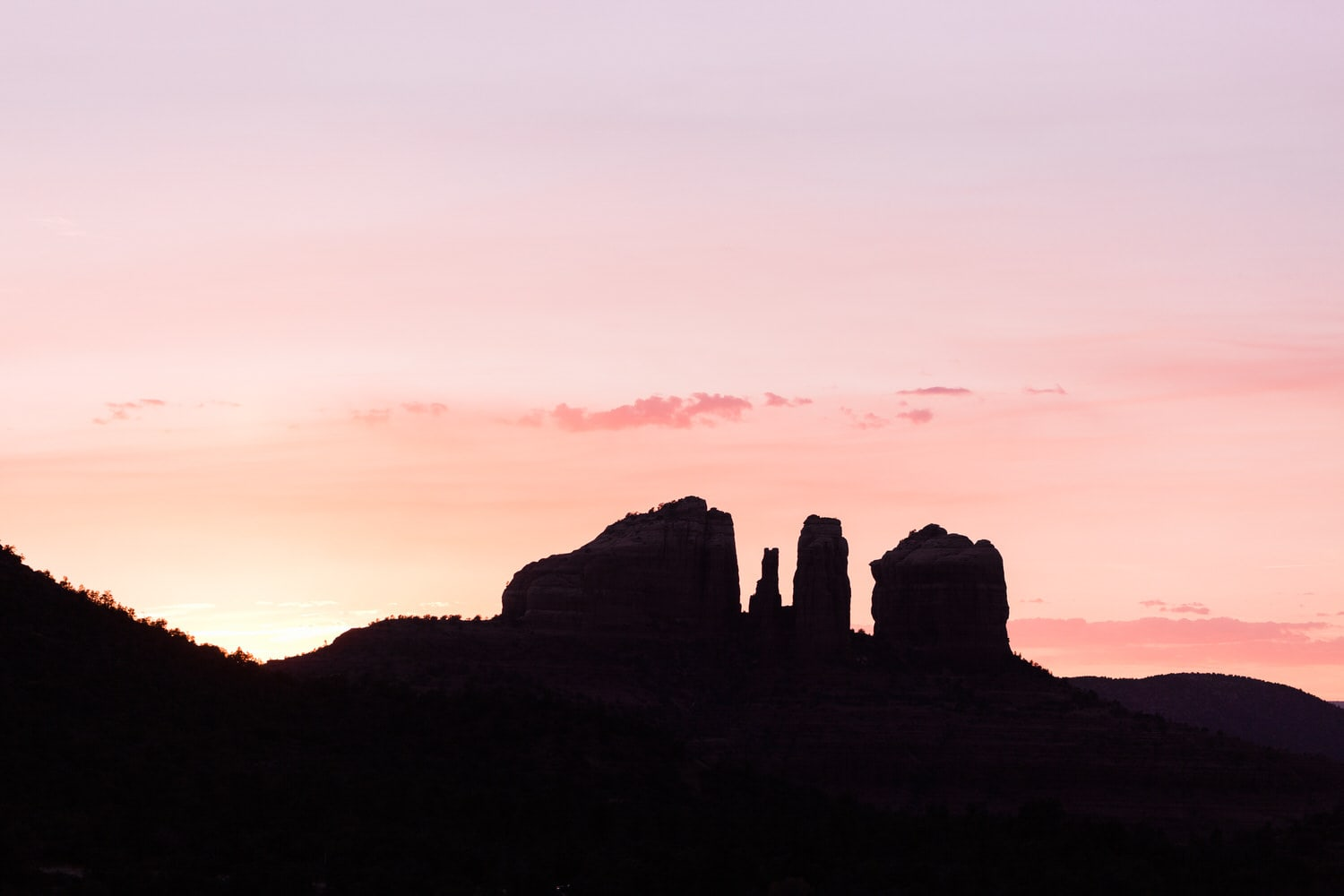 Sunset on Cathedral Rock
