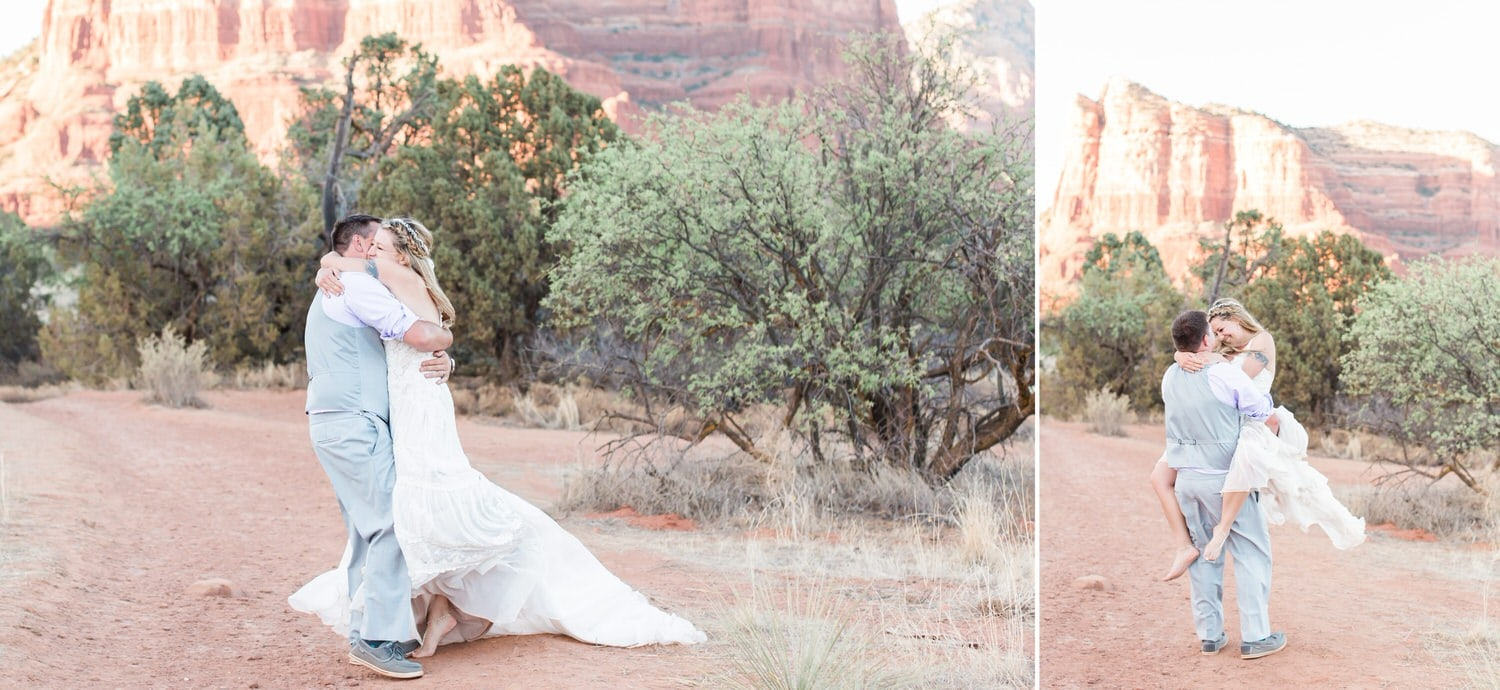 passionate wedding at Red Agave Resort