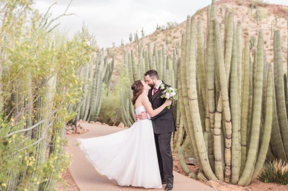 Intimate and Romantic wedding at the desert botanical gardens
