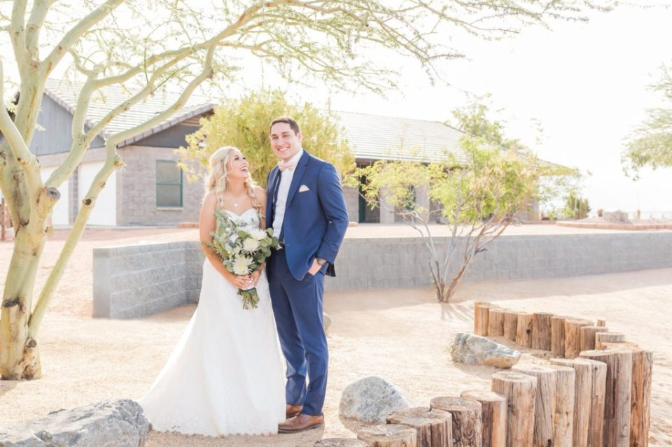Joyful wedding at Ashley's Backyard, Laveen Arizona