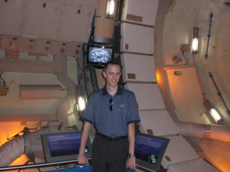 Inside a mockup of Skylab