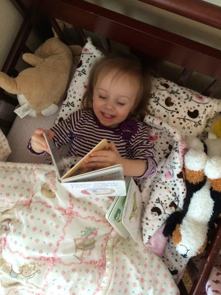 Loving her books!