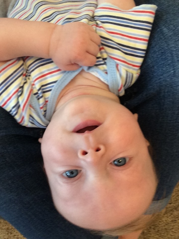 James love to be upside down