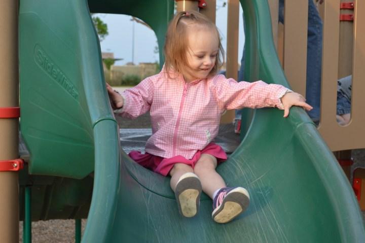 Eliza loves the slides