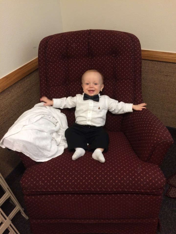 Hanging out in the mother's room at church