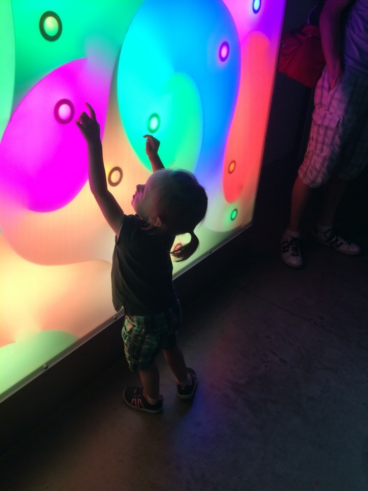 This wall changed colors when you touched the circles.