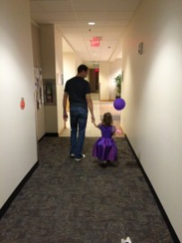 Daddy and Eliza at daddy's work.