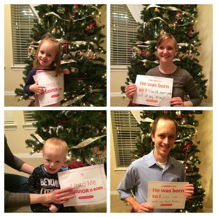 We had a Christmas FHE this week and made these signs to share on social media.