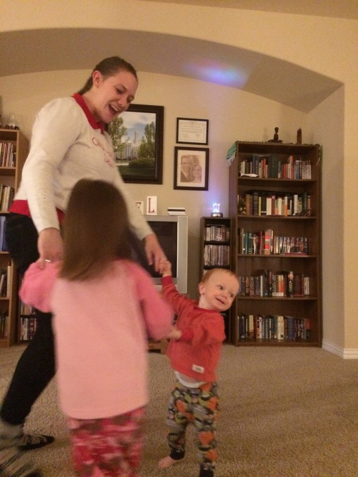 03 Aunt Christa dancing with the kids