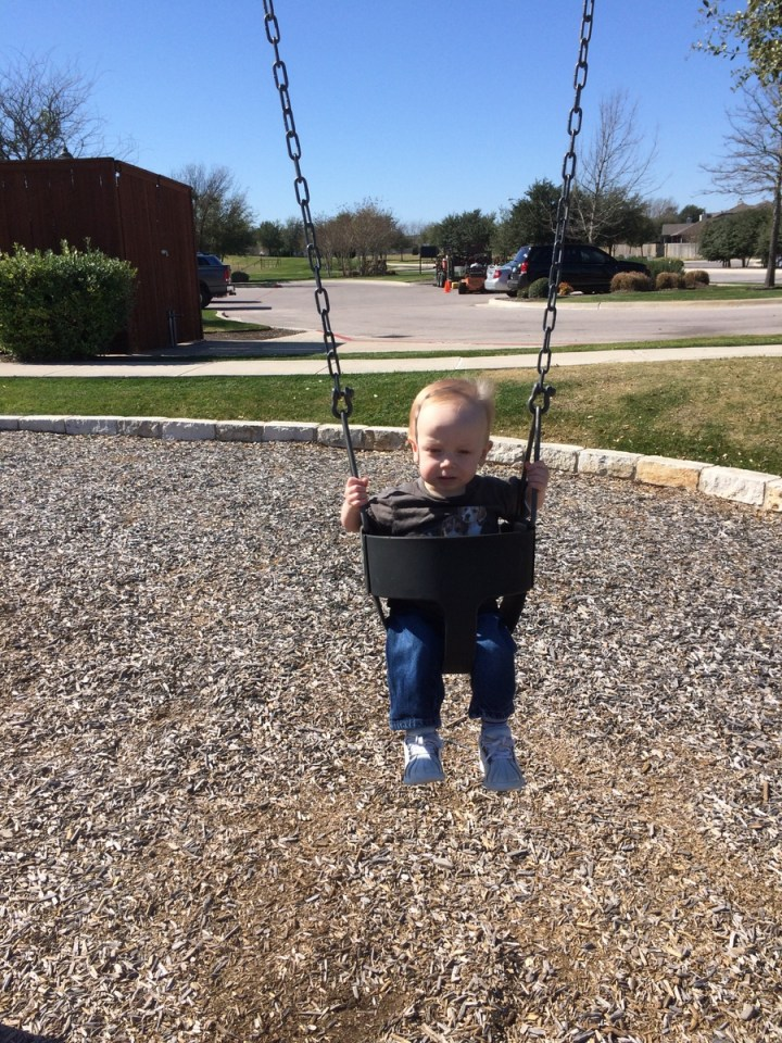 James didn't really care for the swing at the park