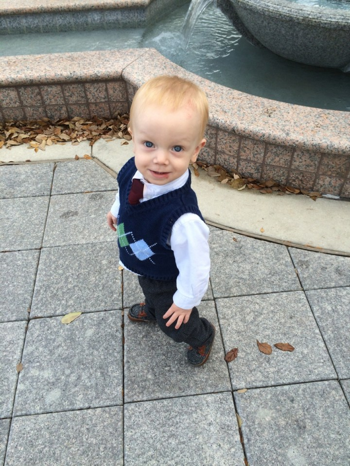 James wanted to walk all around the temple by himself.