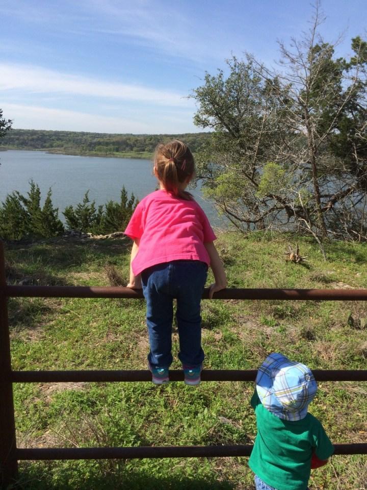 Eliza and James looking at the lake
