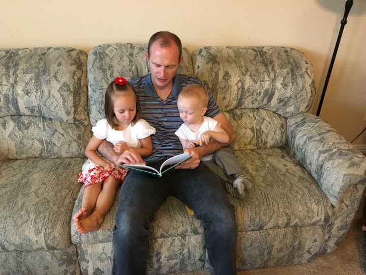 New Friends: the kids reading with Michael.